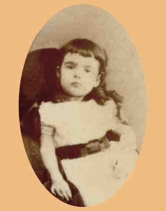 Pauline aged about 4  (333 KB) c. 1871  Photographed in Jamaica (Click on Picture to View Full Size)